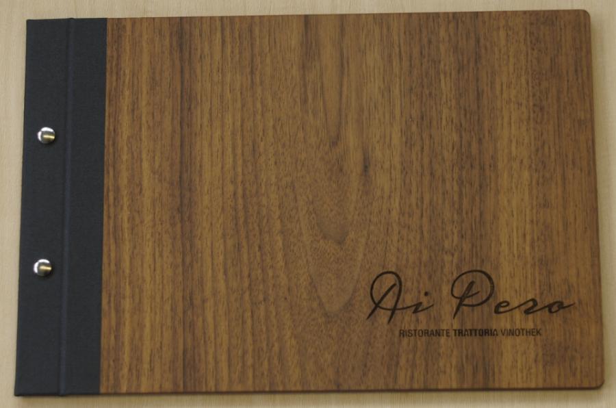 Holz Speisekarten mit Logo