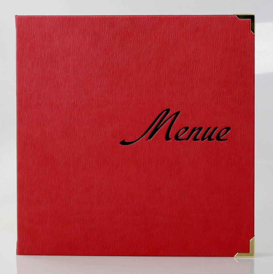 Speisekarten mit Logo-Prägung / Veredelungen von Speisekarten